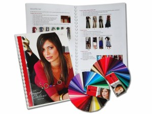 Colour swatch and A4 book